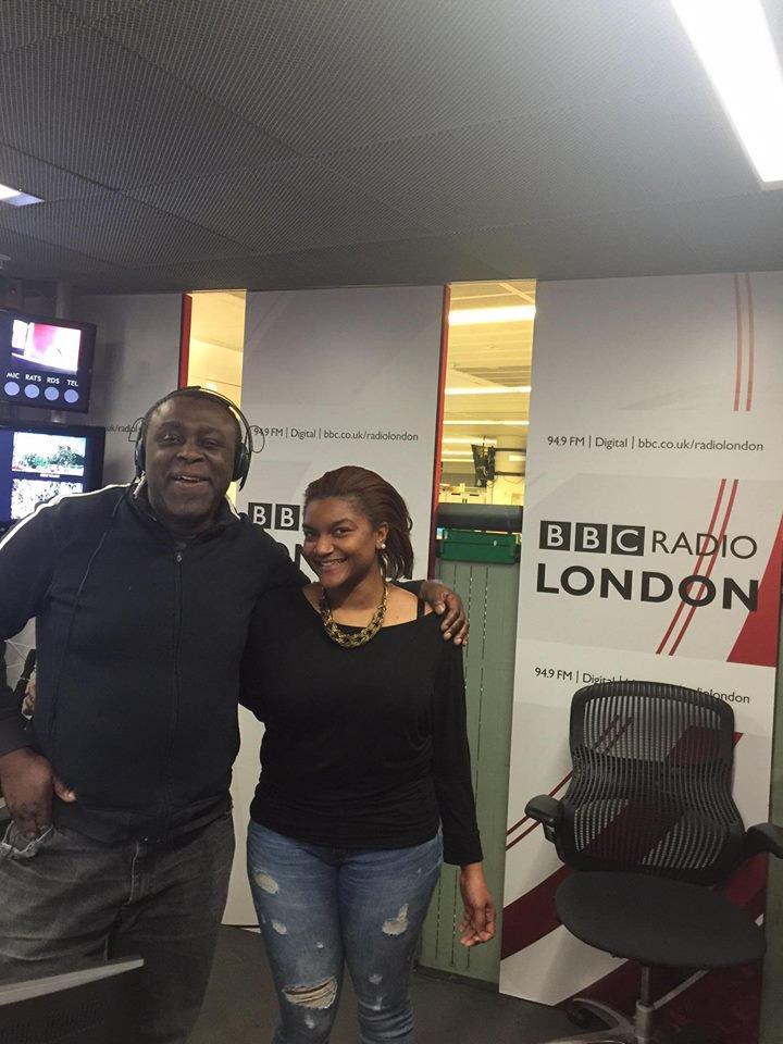 Sherica Spence, Founder of Skye Alexandra House with Dotun Adebayo, presenter from BBC Radio London